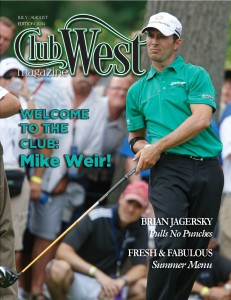 Cover page of ClubWest first edition, July/August 2014.