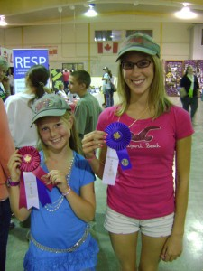 In a return engagement from their 2008 debut, Stephanie was named Smithville Fair Grand Champion, while cousin Cara  earned second place.